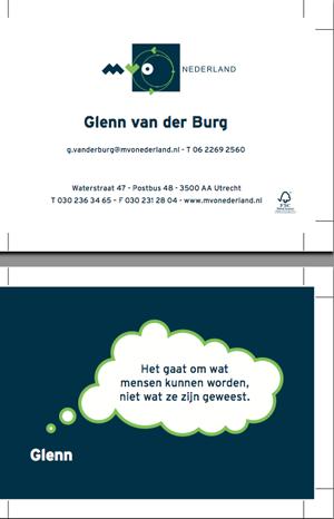 visitekaartje bij MVO Nederland