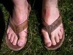 Foto van mijn voeten in slippers