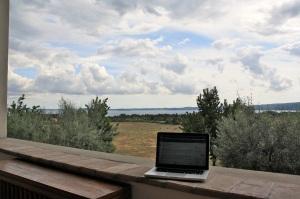 Uitzicht vanuit vakantieadres