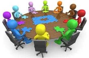 Grafische weergave van verschillende stakeholders